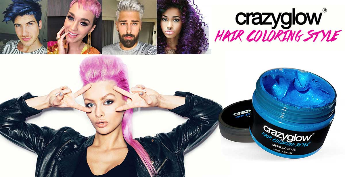 Crazyglow hair coloring style